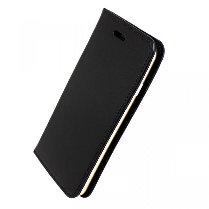iPhone7 ケース 手帳×アルミバンパーケース Cuoio 黒/ゴールド iPhone 7_0