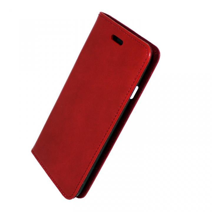 iPhone7 ケース 手帳×アルミバンパーケース Cuoio 赤/ブラック iPhone 7_0