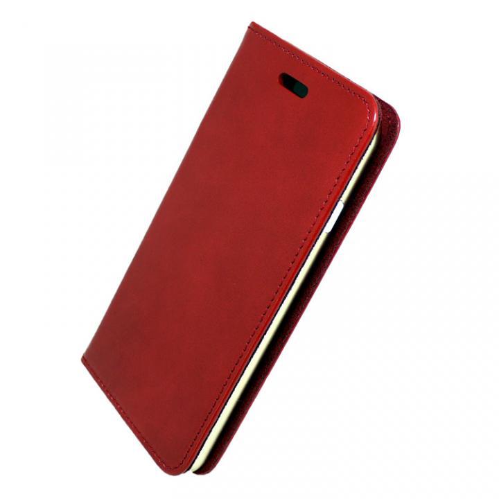 iPhone7 ケース 手帳×アルミバンパーケース Cuoio 赤/ゴールド iPhone 7_0