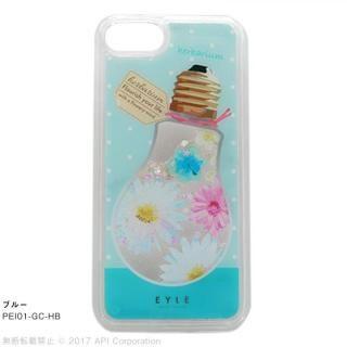 EYLE Glitter Case ハーバリウム ブルー iPhone8/7/6s/6