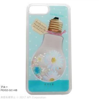 EYLE Glitter Case ハーバリウム ブルー iPhone 8 Plus/7 Plus/6s Plus/6 Plus