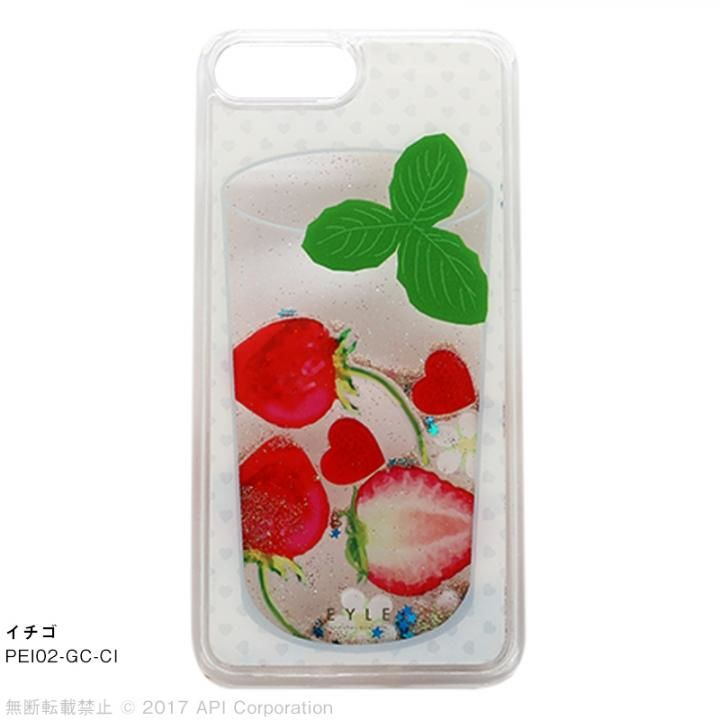 EYLE Glitter Case カクテル イチゴ iPhone 8 Plus/7 Plus/6s Plus/6 Plus【12月下旬】