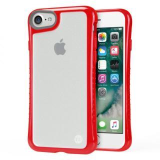 iPhone7 ケース Hybrid Shell 衝撃吸収クリアケース レッド iPhone 7