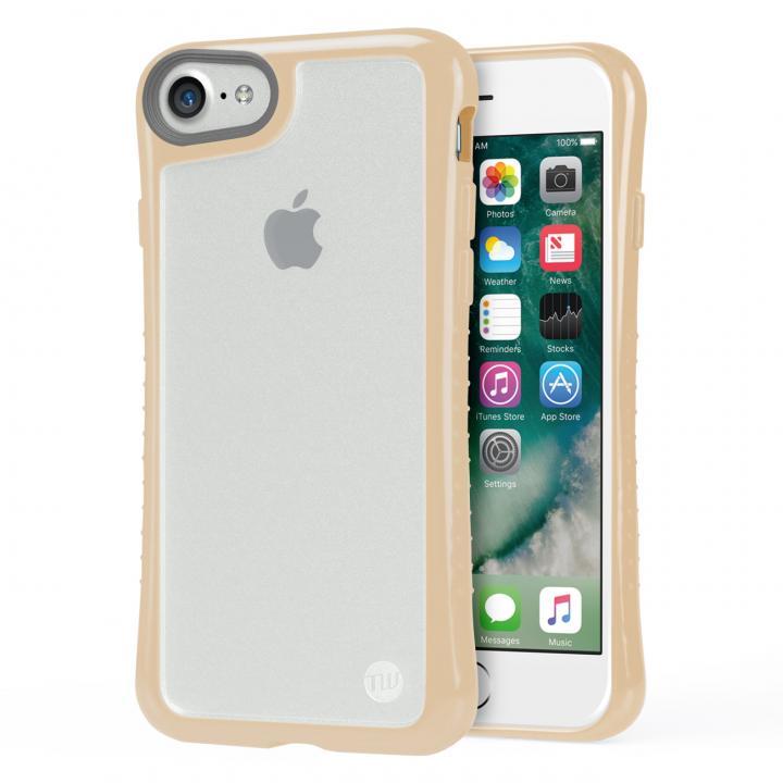 iPhone7 ケース Hybrid Shell 衝撃吸収クリアケース ベージュ iPhone 7_0