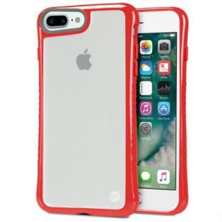 iPhone7 Plus ケース Hybrid Shell 衝撃吸収クリアケース レッド iPhone 7 Plus