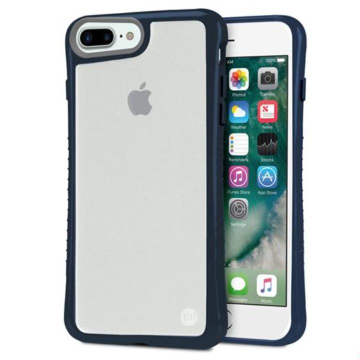 iPhone7 Plus ケース Hybrid Shell 衝撃吸収クリアケース ネイビー iPhone 7 Plus_0