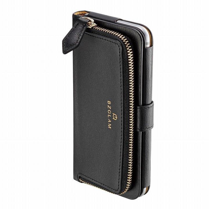 【iPhone6ケース】本レザーコインケース付き手帳型ケース BZGLAM ブラック iPhone 6_0