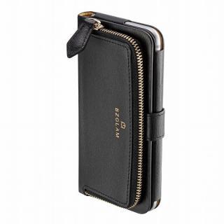 本レザーコインケース付き手帳型ケース BZGLAM ブラック iPhone 6