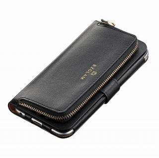 【iPhone6ケース】本レザーコインケース付き手帳型ケース BZGLAM ブラック iPhone 6_1