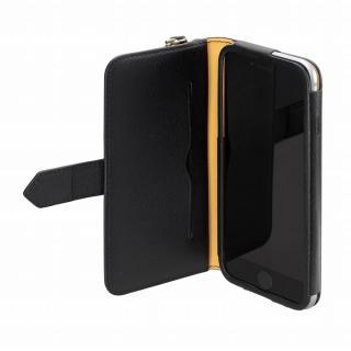 【iPhone6ケース】本レザーコインケース付き手帳型ケース BZGLAM ブラック iPhone 6_3