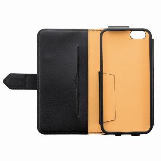 【iPhone6ケース】本レザーコインケース付き手帳型ケース BZGLAM ブラック iPhone 6_4