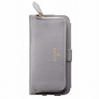 【iPhone6ケース】本レザーコインケース付き手帳型ケース BZGLAM グレイ iPhone 6_2