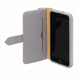 【iPhone6ケース】本レザーコインケース付き手帳型ケース BZGLAM グレイ iPhone 6_3