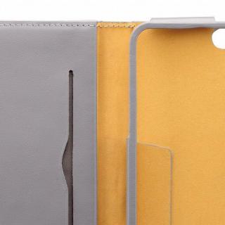 【iPhone6ケース】本レザーコインケース付き手帳型ケース BZGLAM グレイ iPhone 6_5