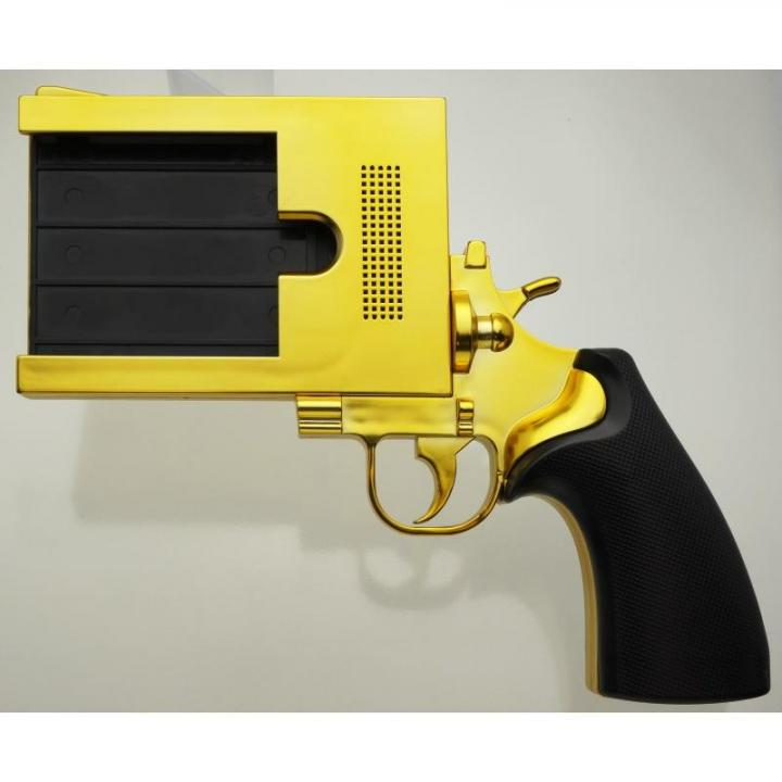 iPhone SE/5s/5 ケース iPhoneをピストルにする エアリア 銃型iPhoneケース ゴールド iPhone SE/5s/5ケース_0