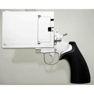 iPhone SE/5s/5 ケース iPhoneをピストルにする 銃型iPhoneケース P5SGUN シルバー iPhone SE/5s/5ケース