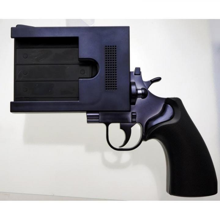 【iPhone SE/5s/5ケース】iPhoneをピストルにする 銃型iPhoneケース P5SGUN ブラック iPhone SE/5s/5ケース_0