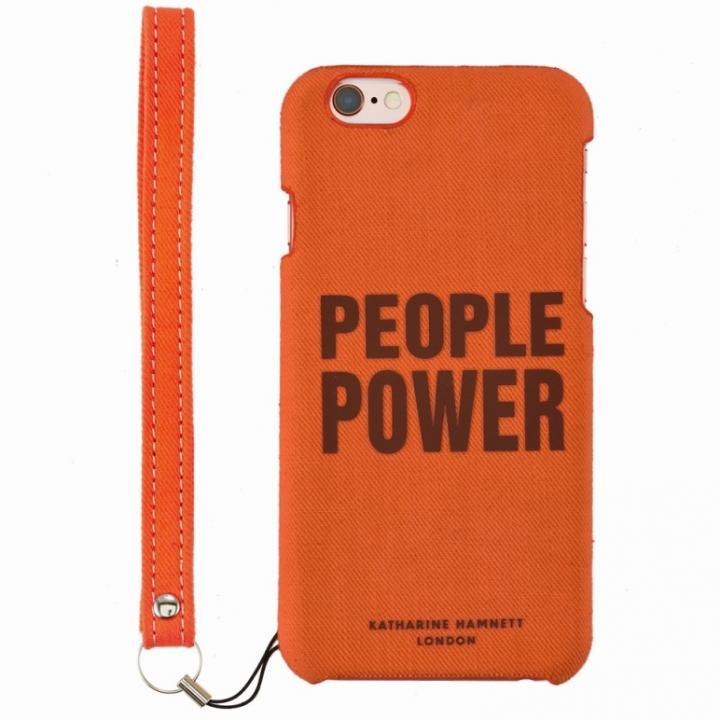 iPhone6s/6 ケース KATHARINE HAMNETT ファブリックケース People Power iPhone 6s/6_0