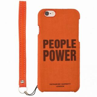 KATHARINE HAMNETT ファブリックケース People Power iPhone 6s/6