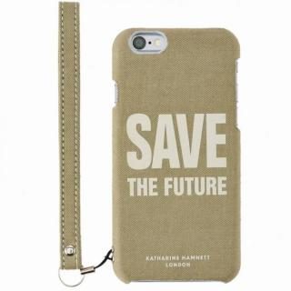 KATHARINE HAMNETT ファブリックケース Save the Future iPhone 6s/6