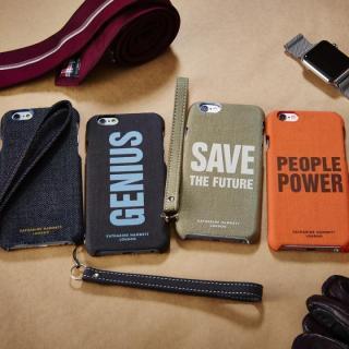 【iPhone6s/6ケース】KATHARINE HAMNETT ファブリックケース デニム iPhone 6s/6_1
