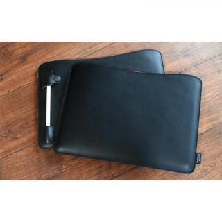職人が作るオイルドレザースリーブ  ブラック ペンホルダー付き 12.9インチiPad Pro