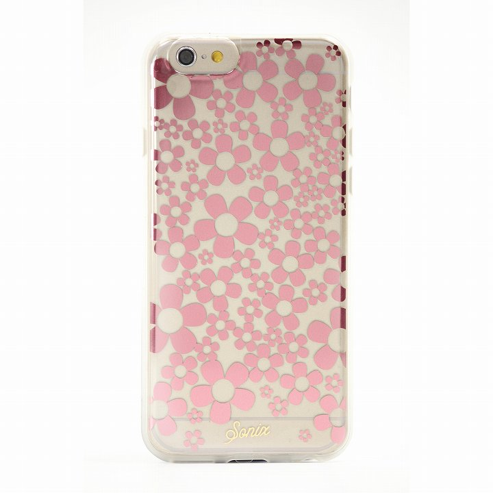 【iPhone6ケース】Sonix クリアデザインハードケース HELLO DAISY ROSE GOLD iPhone 6_0