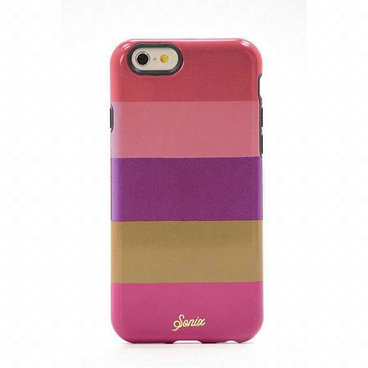 Sonix デザインハードケース INLAY FUCHSIA STRIPE iPhone 6