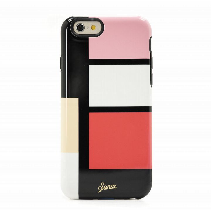 【iPhone6ケース】Sonix デザインハードケース INLAY COLOR BLOCK PINK iPhone 6_0