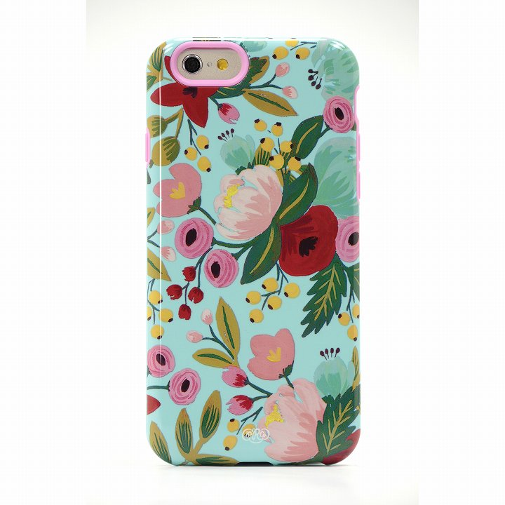 【iPhone6ケース】Sonix デザインハードケース INALY RPC GARDEN BLOOM BLUE iPhone 6_0