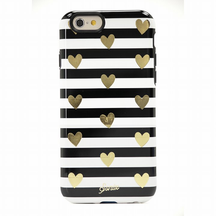 Sonix デザインハードケース INLAY HEART STRIPE GOLD iPhone 6