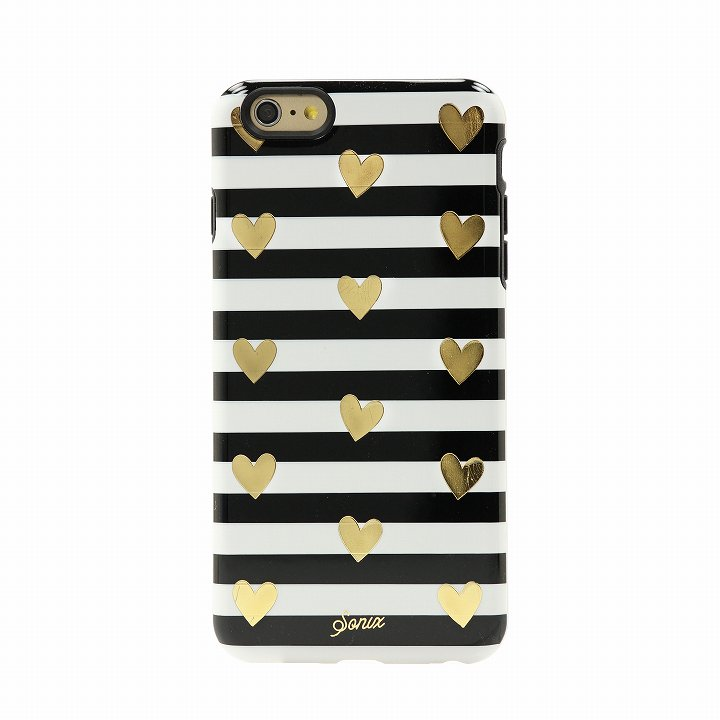 iPhone6 Plus ケース Sonix デザインハードケース INLAY HEART STRIPE GOLD iPhone 6 Plus_0