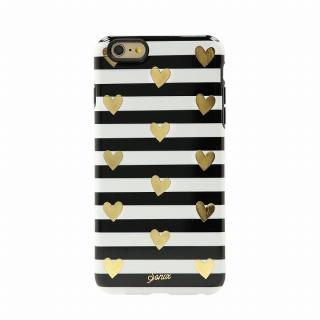 Sonix デザインハードケース INLAY HEART STRIPE GOLD iPhone 6 Plus