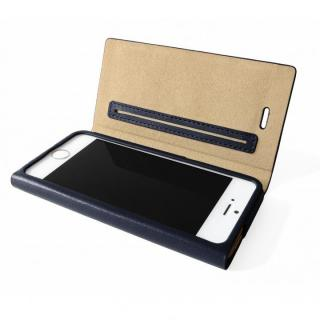 GRAMAS One-Sheet レザーネイビーブルー iPhone SE/5s/5 手帳型ケース