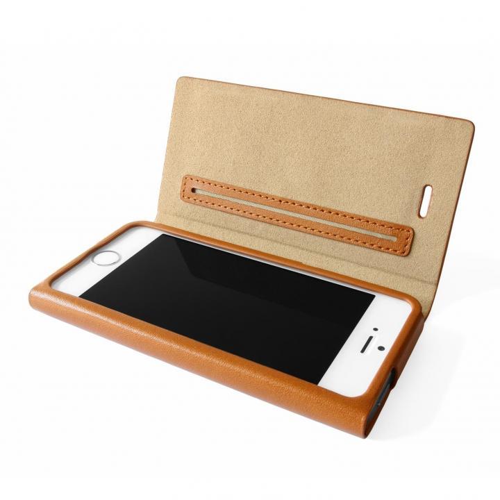 iPhone SE/5s/5 ケース GRAMAS One-Sheet Leather タン iPhone SE/5s/5 手帳型ケース_0