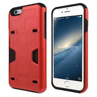 カード3枚収納機能付きケース PhoneFoam FURY レッド iPhone 6s/6
