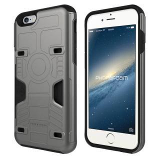 カード3枚収納機能付きケース PhoneFoam FURY ダークシルバー iPhone 6s/6
