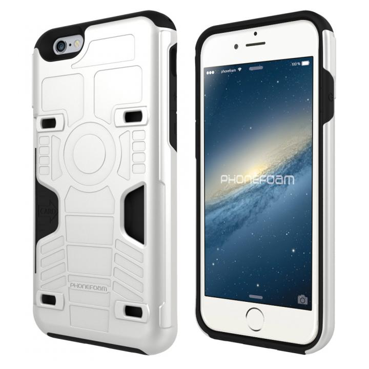 【iPhone6s/6ケース】カード3枚収納機能付きケース PhoneFoam FURY ホワイト iPhone 6s/6_0