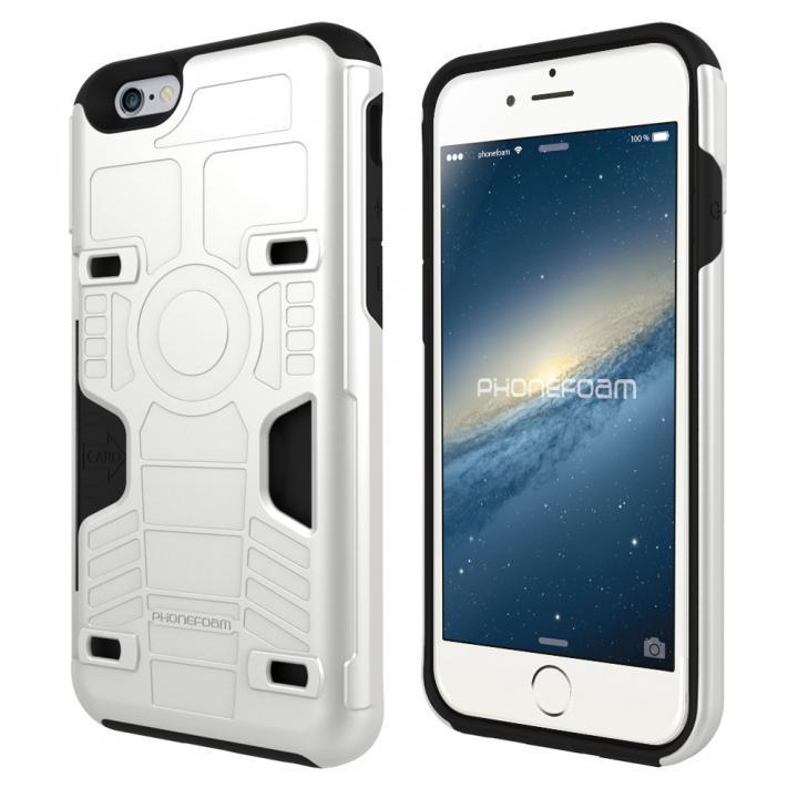 iPhone6s/6 ケース カード3枚収納機能付きケース PhoneFoam FURY ホワイト iPhone 6s/6_0