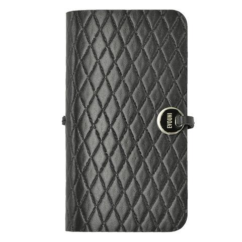 iPhone SE/5s/5 ケース Leather Arc Cover iPhone SE/5s/5 手帳型ケース L58 ブラック_0