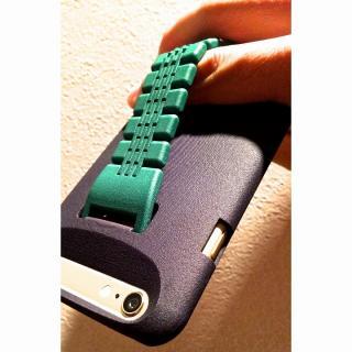 【iPhone6ケース】ベルト付きケース 「HANDs ON」 Design グリーン iPhone 6_1
