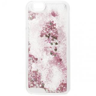 ラメKIRA ハードケース ピンクゴールド iPhone 6