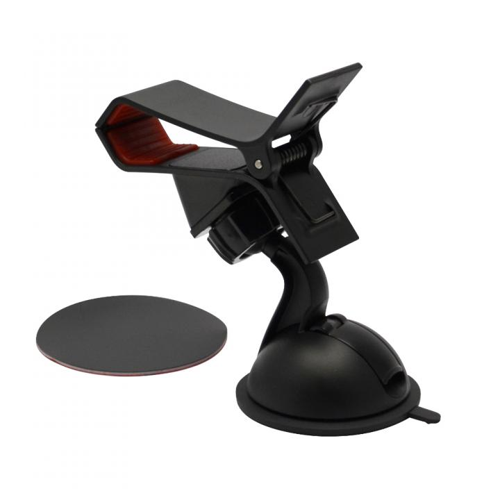 強力ゲル+真空吸盤 ワンタッチクリップホルダー