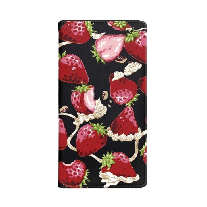 iPhone8/7/6s/6 ケース MILK 手帳型ケース WHIPPED BERRY ブラック iPhone 8/7/6s/6【4月下旬】_0