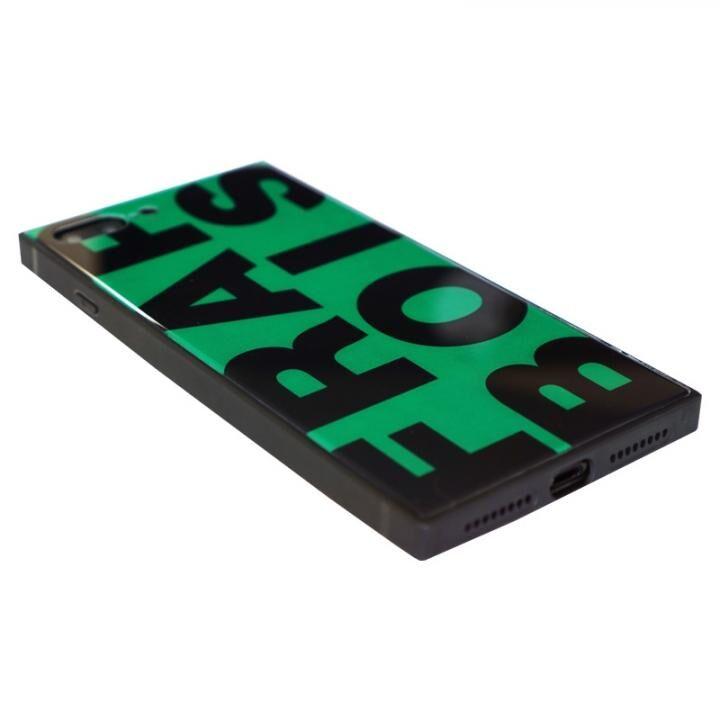 iPhone8 Plus/7 Plus ケース FRAPBOIS スクエア型 ガラスケース FRAPBOIS GREEN iPhone 8 Plus/7 Plus【9月上旬】_0
