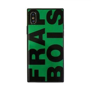 iPhone XS/X ケース FRAPBOIS スクエア型 ガラスケース FRAPBOIS GREEN iPhone XS/X