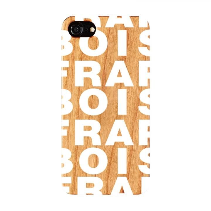 【iPhone8/7/6s/6ケース】FRAPBOIS ウッドケース WOOD LOGO WHITE iPhone 8/7/6s/6【3月上旬】_0