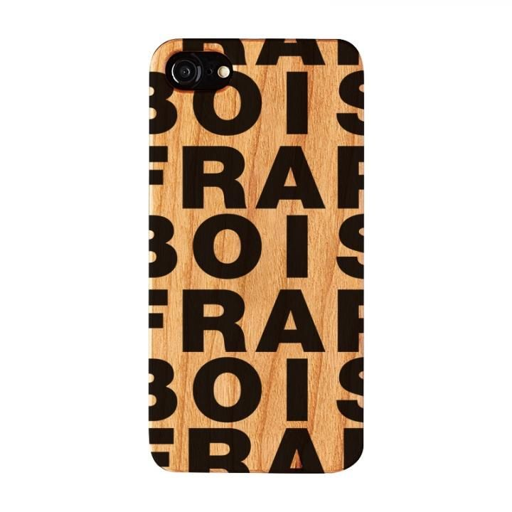 iPhone8/7/6s/6 ケース FRAPBOIS ウッドケース WOOD LOGO BLACK iPhone 8/7/6s/6_0