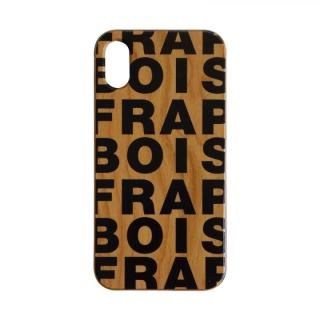 iPhone XS/X ケース FRAPBOIS ウッドケース WOOD LOGO BLACK iPhone XS/X