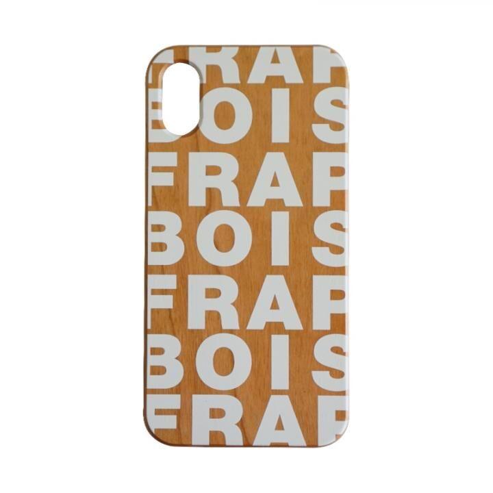 iPhone XS/X ケース FRAPBOIS ウッドケース WOOD LOGO WHITE iPhone XS/X_0